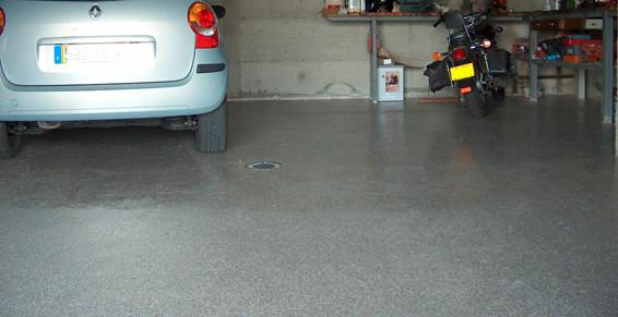 Resine sol garage revepoxy deco peinture epoxy dcorative for Resine epoxy pour sol garage